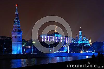 Illumination at Moscow Kremlin
