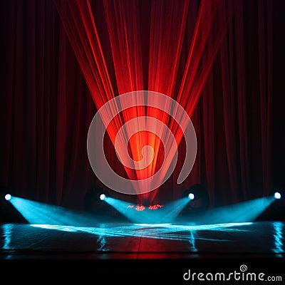 Free Illumination Of A Stage Royalty Free Stock Photo - 19003045