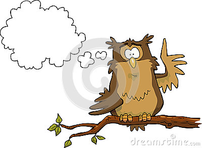Illumination owl Vector Illustration