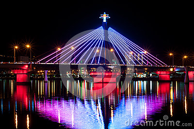 Illumination at Song Han Bridge