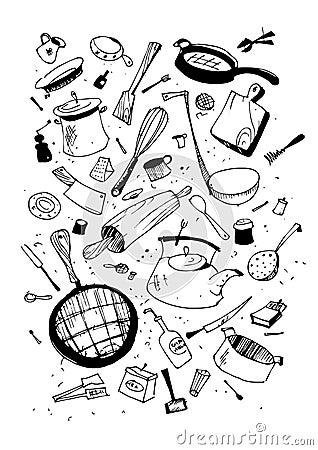 Illustraition of kitchen utensil
