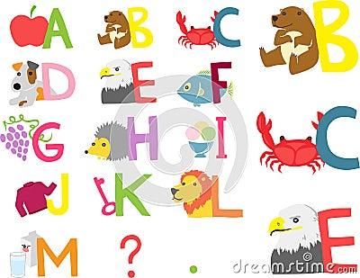 Illustrated Alphabet A-M
