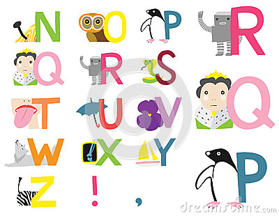Illustrated Alphabet N-Z
