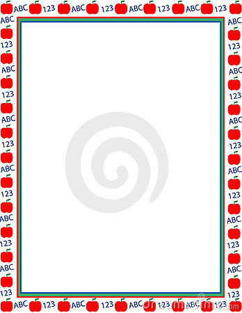 Illustrated apple border