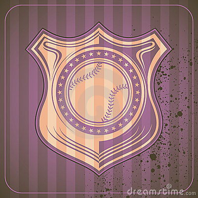 Illustrated baseball crest.