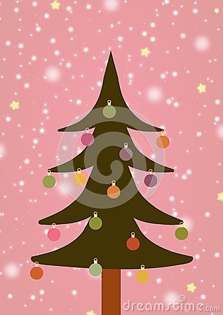 Illustrated Christmas Tree