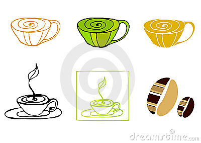 Illustrated coffee icons