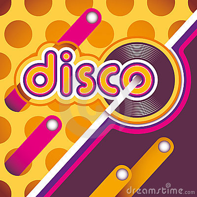Illustrated disco background.