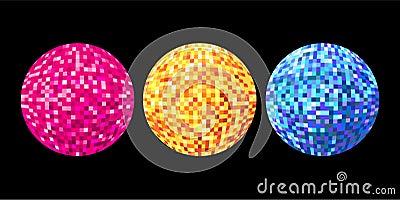 Illustrated disco balls