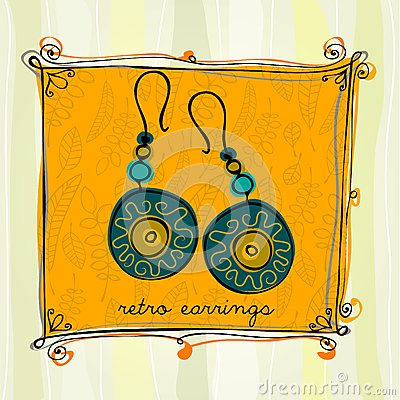 Illustrated earrings