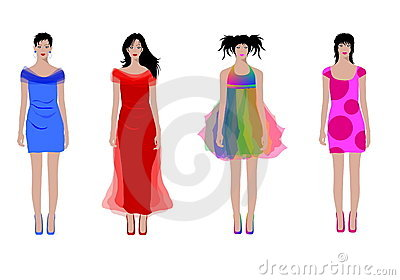 Illustrated fashion women