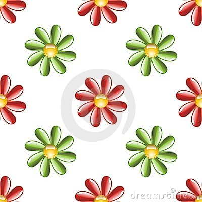 Illustrated flower background