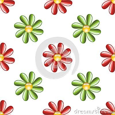 Illustrated flower background