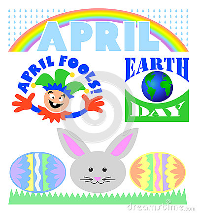April Events Clip Art Set/eps