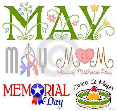 May Events Clip Art Set/eps