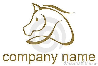Illustrated horse logo