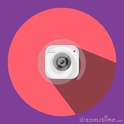 The illustrated image is a camera clip image icon can be used in various media applications. Vector Illustration