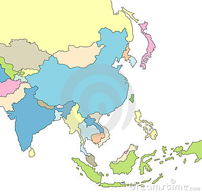 Illustrated Map of Asia
