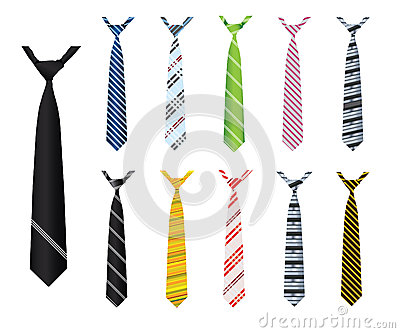 Illustrated neck ties