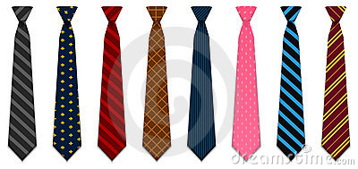 Illustrated neck ties