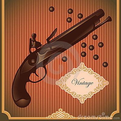 Illustrated old gun.