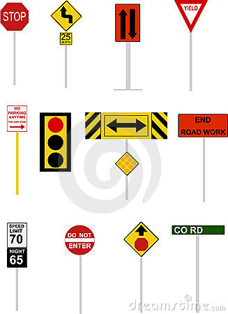 Illustrated Road Signs