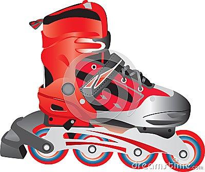 Illustrated rollerblade skate