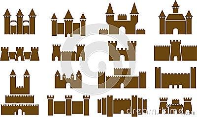 illustrated set of castles