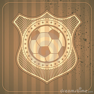 Illustrated soccer crest.