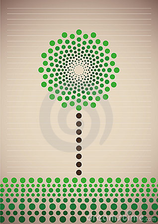 Illustrated stylized tree.