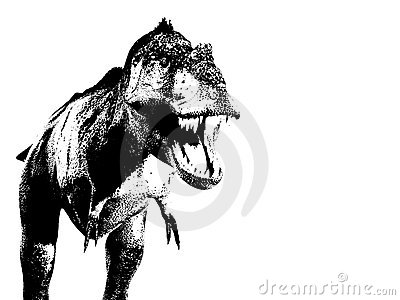 Illustrated T Rex