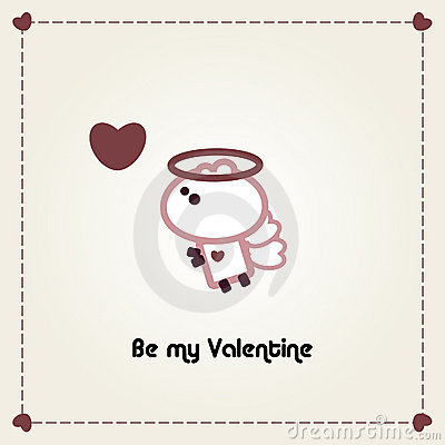 Illustrated valentines card