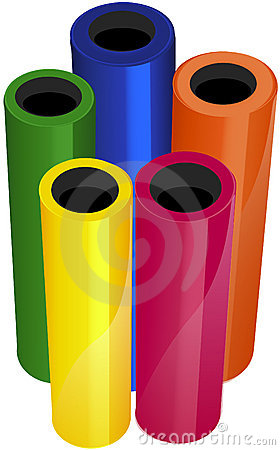 Illustrated Vinyl Rolls Stock Photos - Image: 3927233