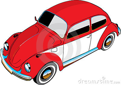 Illustrated VW beetle car