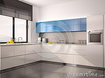 Blauw witte keuken - Ontwerp witte keukens ...