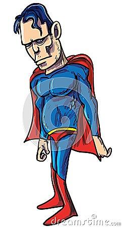 Illustratie van een taaie krachtige superhero