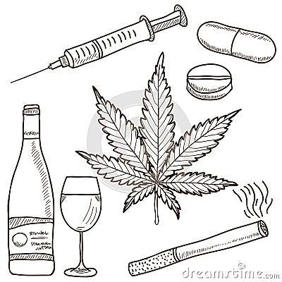 Illustratie van narcotica