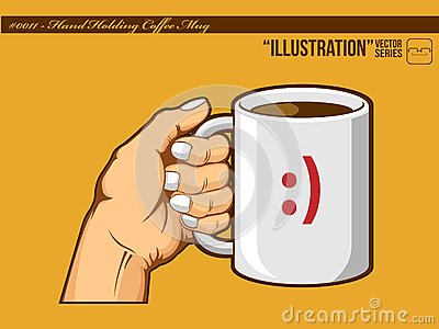 Illustration #0011 - Hand Holding Coffee Mug