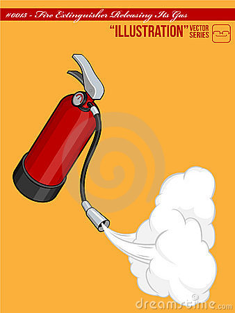 Illustration #0015 - Fire Extinguisher Releasing I