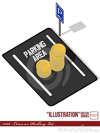 Illustration #006 - Coins on Parking Lot