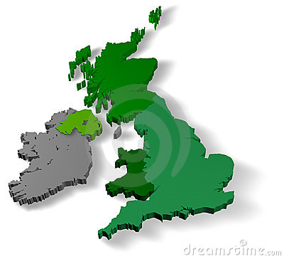 Illustration 3d of united kingdom of great britain