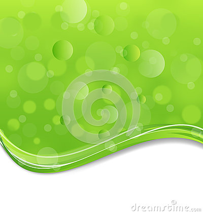 Abstract eco background with light effect