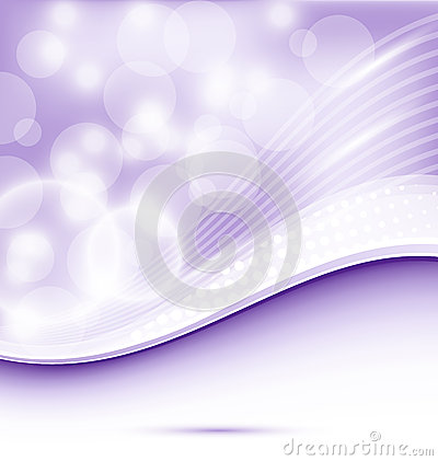 Abstract wavy purple background for design