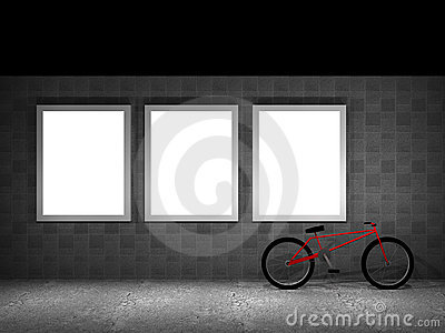 Illustration of a advertising panel at night