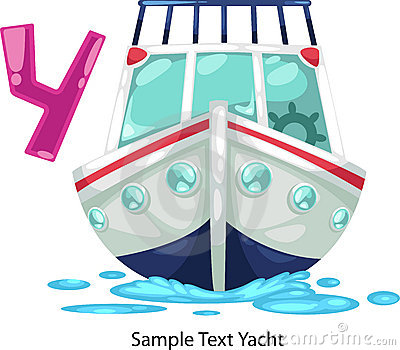 Illustration alphabet letter y-yacht