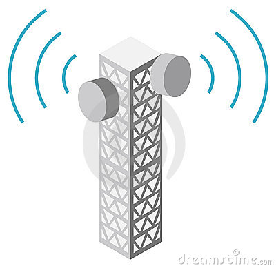 Illustration of antenna tower