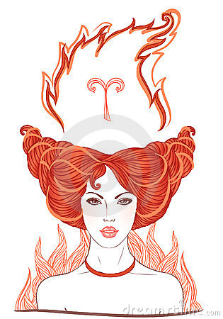 Illustration of Aries  astrological sign