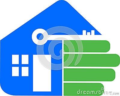 Hand home logo