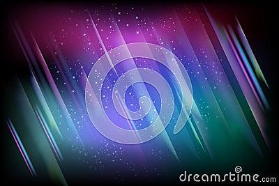 Illustration of aurora boreal