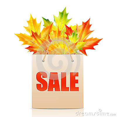 Illustration of autumn seasonal sales